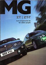 MG ZT & ZT-T 2002-03 UK Market Sales Brochure 160 180 190 CDTi