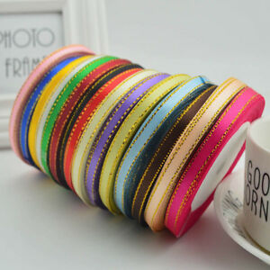 "25 Yards 1/4""(6mm) Grosgrain Ribbon Wedding Party Craft Satin DIY Hair Bow Decor"