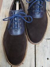 COLE HAAN Mens Dress Shoes Casual Classic Blue on Brown Saddle Oxford Size 10.5M