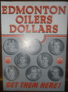 1983 Edmonton Oilers Store Display Poster, Gretzky, etc