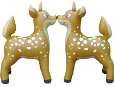 """2 Inflatable Deer Animal Home Yard Decor Holiday Gift Party Toy Collection 36"""""""