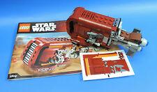 Lego Star Wars épisode 7 Ensemble de 75099 / Ray's speeder (JAKKU) / sans
