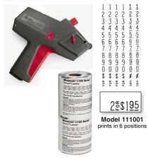 New Monarch 1110 Price Gun 1110-01 - Includes Sleeve Of Labels (16 Rolls)