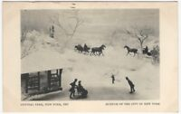 1936 Central Park New York 1865 Diorama Museum of the City of New York Postcard