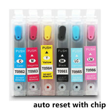T0981-6 refillable Ink Cartridges For Epson Artisan 600 700 800 610 710 725 835