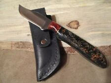 "6 1/2"" FILE KNIFE WITH CUSTOM HANDLE OF CARBON SHRED -BY LEE- MADE IN USA"