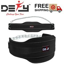 DEFY Weight Lifting Neoprene Dipping Belt Exercise Fitness Gym Body Building New