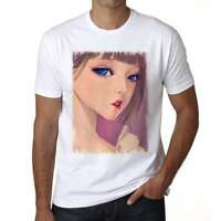 Manga blonde girl with blue eyes, Men's T-Shirt,t shirt gift 00089