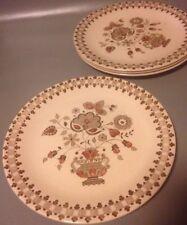4x Vintage Johnson Brothers Old Granite Jamestown 10 Inch Dinner Plates
