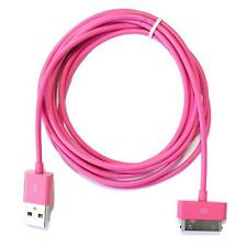 3 Meter (10FT) Hot Pink iPhone 4 4S Charger Data Sync Cable Extra Long