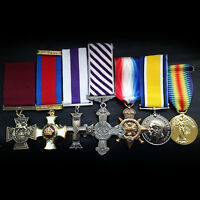 Military medals Victoria Cross DSO MC DFC 1914 Star BWM Victory award war Repro