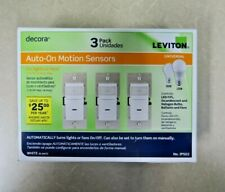 Leviton Decora 3-Pack Auto-On Motion Sensors Universal White Ips02 Fans/Lights
