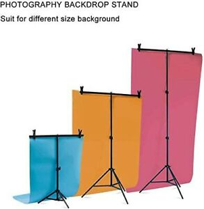 Photography Backdrop Stand T Metal PVC Background Support System + Clamp Kit
