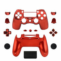 Chrome Full Custom Housing Mod Kit PS4 Slim Pro Controller Shell Case w/ Buttons