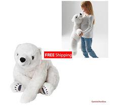 "IKEA Soft Toy SNUTTIG Kids Large Stuffed Animal Polar Bear 23.5"" Plush NEW"