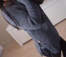 Warm Pulli Neu S M Pullover Blogger Jumper Chic Trend Boyfriend Schleife wolle