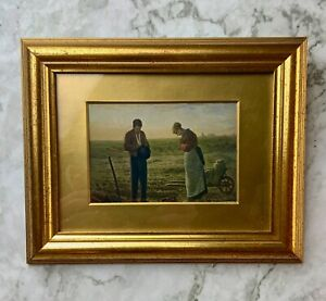 A beautiful print depicting 'The Angelus,' by John Francis Millet