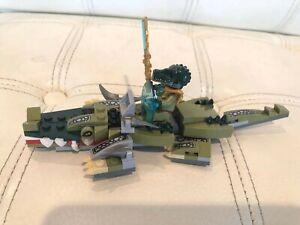 RARE Used LEGO Chima Crocodile Legend Beast (70126) 100% COMPLETE