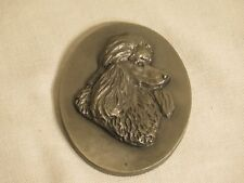 Louise Shattuck Hudson Pewter Poodle plaque/wall hanging #516