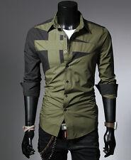 Luxury Mens Dress Shirt Long Sleeve T-Shirt Casual Work Slim Fit Shirts Tops New