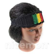 Rasta Stripes Hair Head Band Dread Dreadlocks 100% Cotton Sweat Band Irie UNISEX