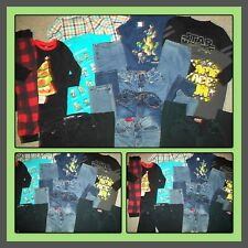 HUGE LOT~WINTER CLOTHES JEANS SHIRTS & PAJAMAS MINECRAFT OLD NAVY BOYS SIZE 7-8