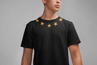 VINTAGE STARS NECKLINE Black T-Shirt | Mens | Premium Cotton Tee