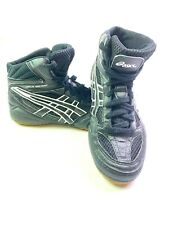 Asics Split Second Wrestling Shoes Men 7 Black Lightweight Leather Mesh JY601