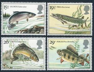 Great Britain 1011-14,MNH.Michel 938-941.River Fish 1983:Salmon,Pike,Trout,Perch