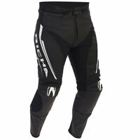 RICHA MONZA BLACK WHITE MENS LEATHER MOTORCYCLE SPORTS TOURING MOTORBIKE TROUSER