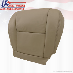 For: 2005 2006 2007 Toyota Tundra / Sequoia Driver Bottom Leather Seat Cover Tan