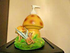 NWOT fun whimsical FAIRY Mushroom SOAP~LOTION Pump Dispenser Tinker Belle