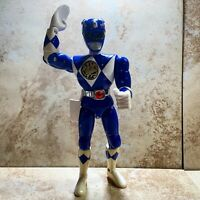"Vintage Bandai 1994 Mighty Morphin Power Rangers 8"" Action Figure Blue Ranger"