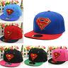 Kids Girls Boy Superman Summer Hiphop Hat Baseball Cap Adjustable Sport Snapback