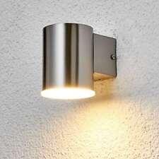 LED Außenwandleuchte Morena Edelstahl Licht Unten Außenwandlampe Lampenwelt Rund