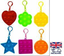 Pop Push It Bubble Fidget Game Toy Simple Dimple Bracelet Keyring Class UK Fast