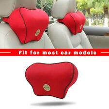 Memory Foam Red Car Seat Headrest Pad Head Neck Cushion Pillow Soft Cotton