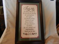 Thank you for taking time for us .... Framed & Matted Quotation Print