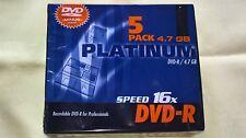 Platinum DVD-R Speed 16x, 4,7 GB, 5 Stück in Originalverpackung NEU