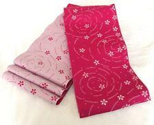 Kimono Yukata Obi Belt from Kyoto Japan Two-Side Pink White Woven Sakura Vintage