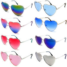 Love Heart Shape Sunglasses Womens Ladies Lolita Fashion Fancy Dress Metal Frame