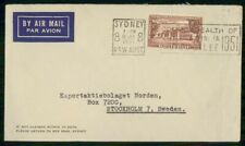 Mayfairstamps Australia Commercial 1951 Cover Sydney To Stockholm Sweden wwi8288