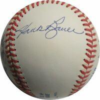 Hank Bauer Moose Skowron Tresh Blanchard Signed Autographed MLB Baseball Yankees