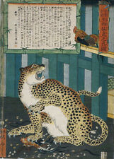 Repro Japanese Woodblock Print by Utagawa Kyosai