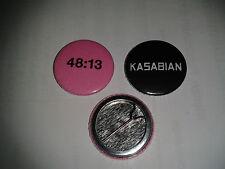 2 x Kasabian 25mm button badges 48:13 #2