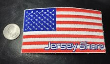 New Large embroidered  Jersey Shore USA AMERICAN FLAG Patch