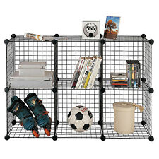 Storage Standing Kids for Floor 6 Cube Shelves Toys Unit Wire Organizer Garage