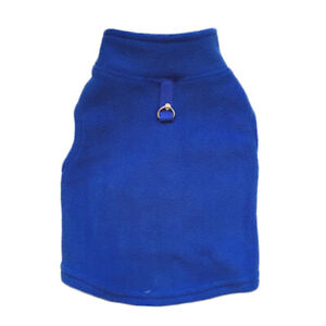 Dog Vest Soft Fleece Clothes Pet Tshirt With Harness Leash D-Ring Pug Yorks Coat