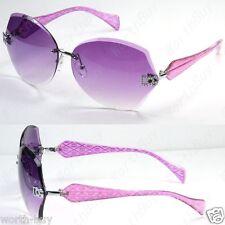 New DG Eyewear Womens Designer Sunglasses Shades Fashion Rimless Purple Square
