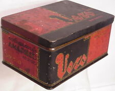 Antique Dutch lithographet box metal tebacco cigars tin Design Vero Amerillo Art